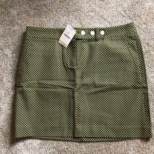 JCrew olive green cotton miniskirt 6